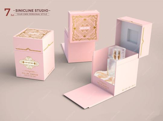 Blush Pink Perfume Packaging Box