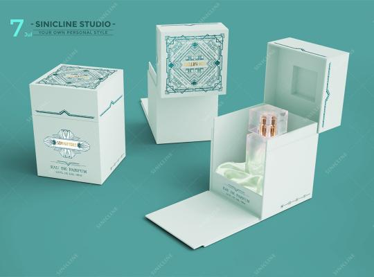 Elegant Mint Green Perfume Packaging Solution