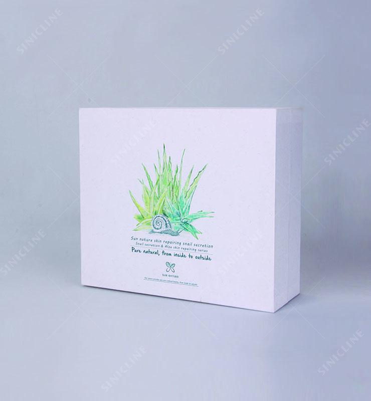 Sun Nature White Card  Cosmetic Paper Box Fit for Bottle