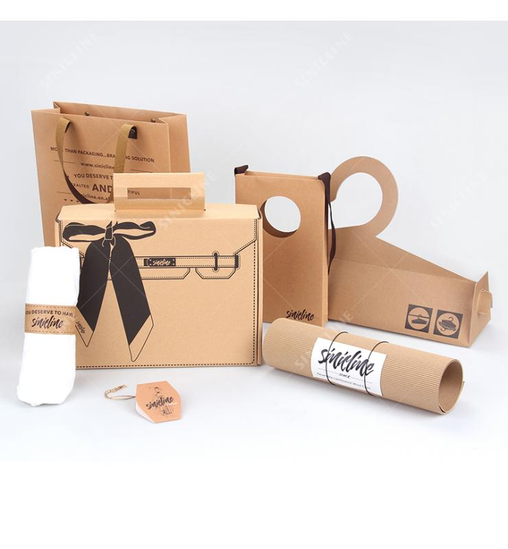 Kraft Paper Packaging Solution for Scarf