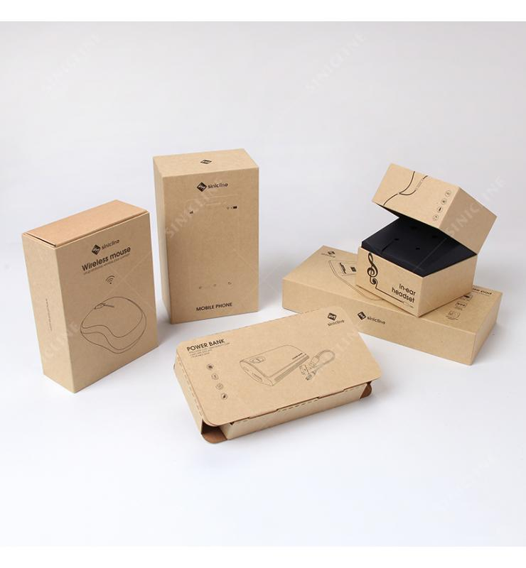 Enviornmental Kraft Paper Packaging Solution For Electronic Products