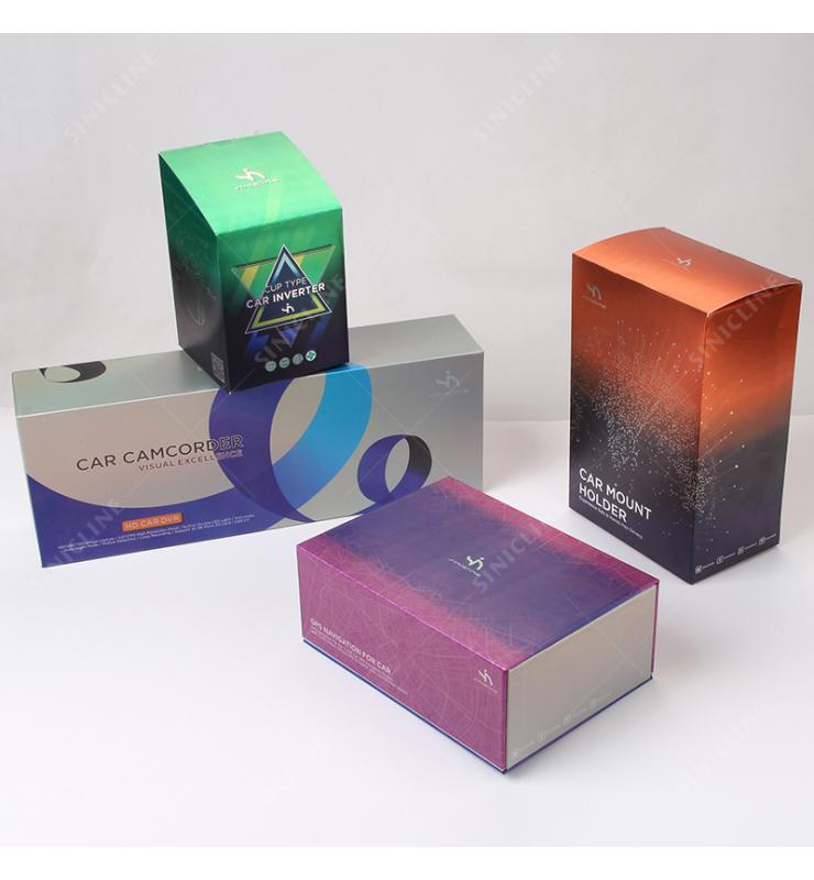 Sinicline Custom Silver Carton Box For Automotive Electronic Parts