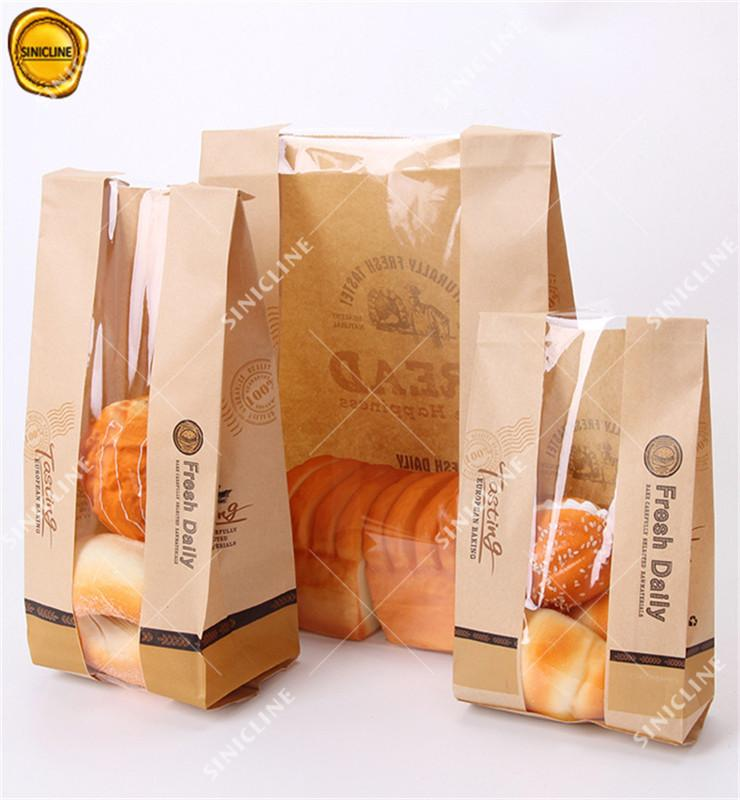 Kraft Paper Bags with See-through Window