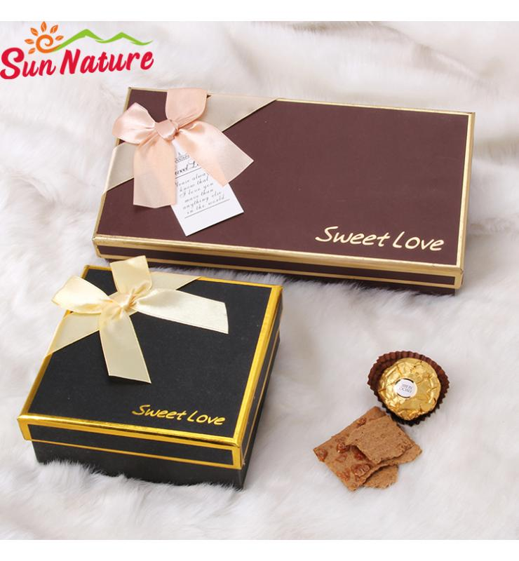 Rigid Chocolate Gift Boxes with Inlays