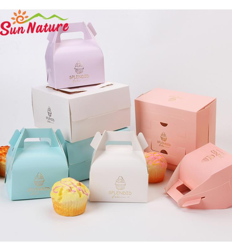 Macaron Color Cake Packaging Boxes