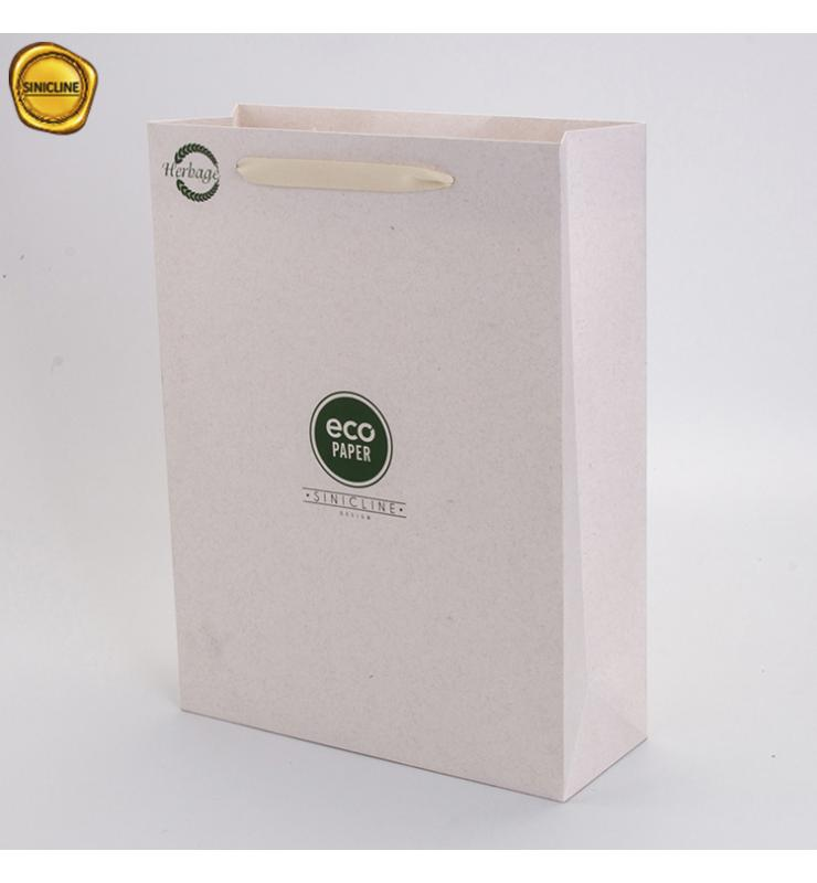 Wheat Straw Fiber Paper Shopping Bag