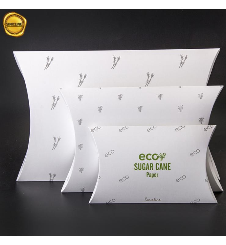 Eco Sugar Cane Paper Pillow Boxes