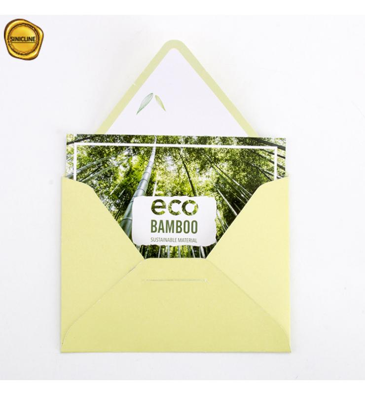 Eco Bamboo Paper Thank You Card
