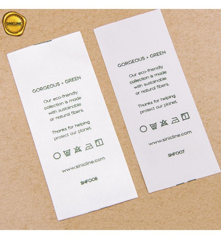 Eco-Friendly RPET Printed Care Labels