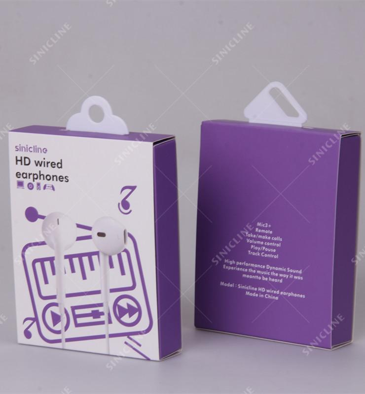 earphone colored box with trays