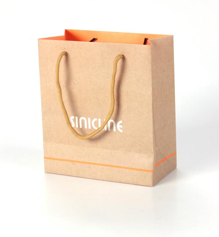 Brown kraft paper packaging bag for shoes/bags